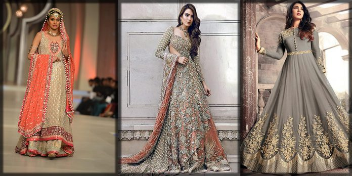 Beautiful Pakistani wedding frocks collection