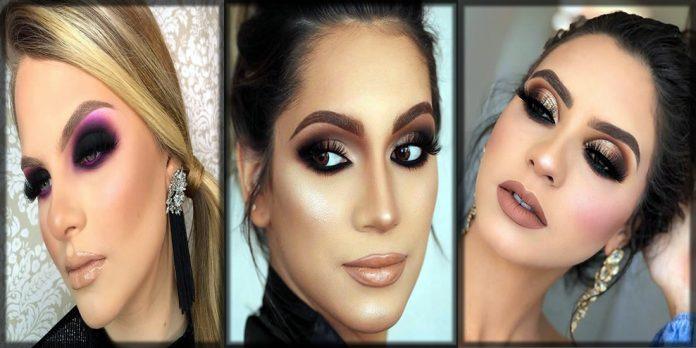 Beautiful smokey eye makeup for women
