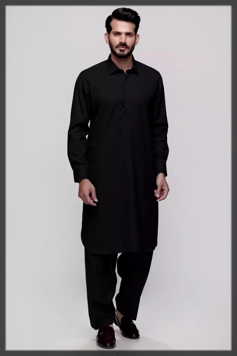 Black Kameez Shalwar by Gul Ahmed