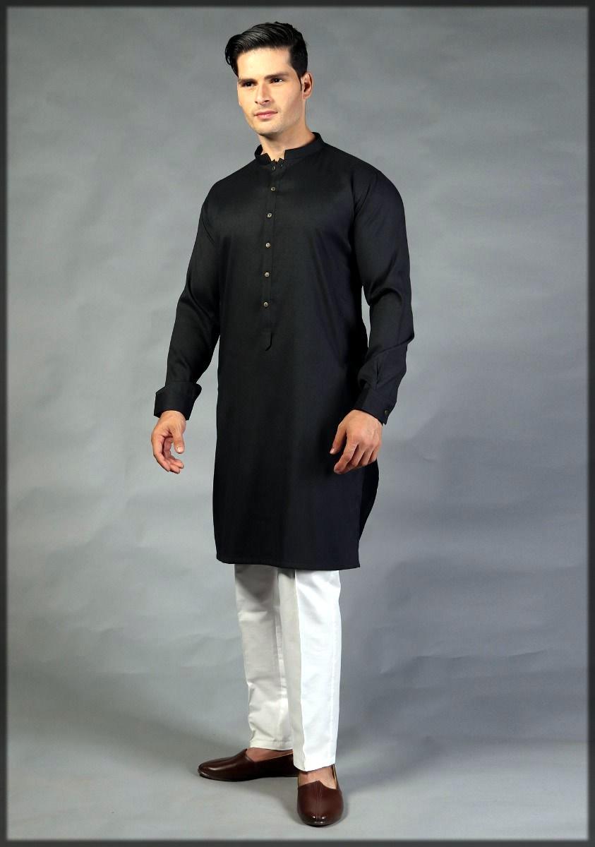 Black kurta for men