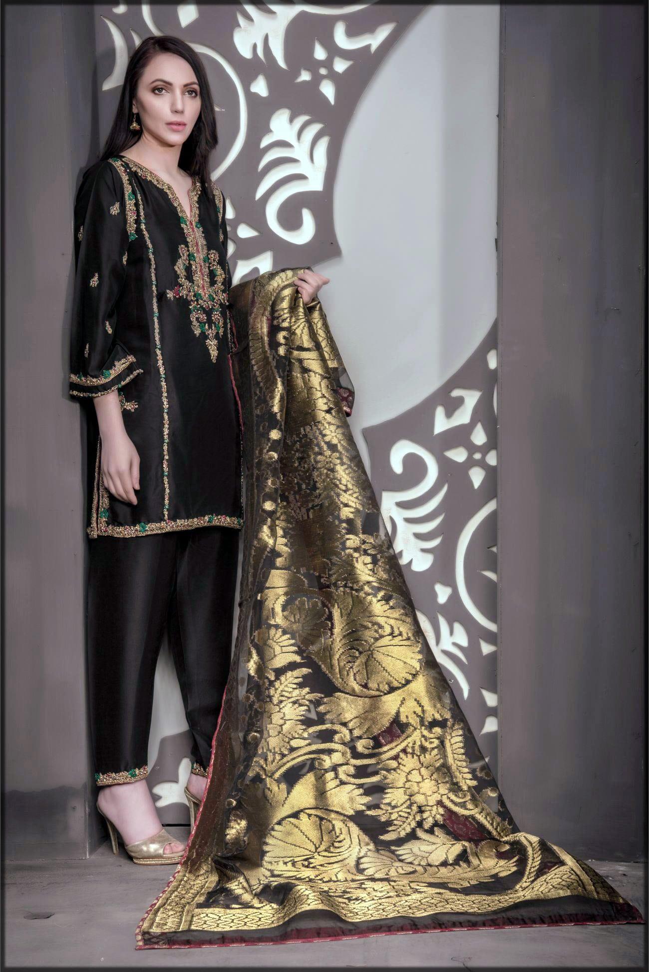 Black silk wear for parties