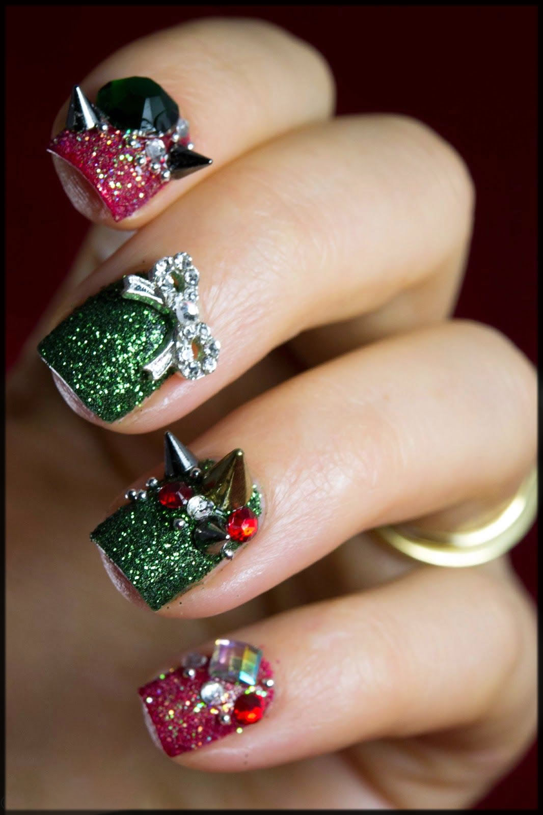 Bling nails for christmas