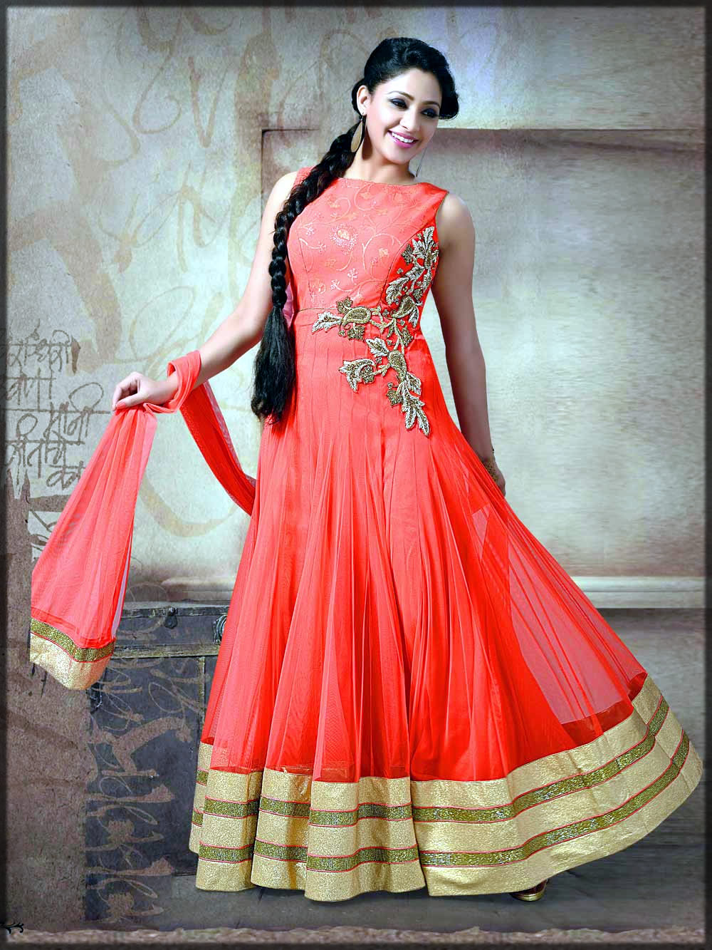 Bridal frock dress for mehndi