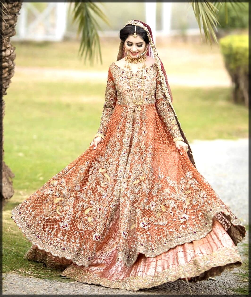 Pakistani wedding frock collection