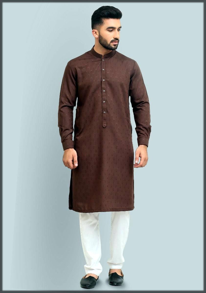 Brown kurta for men