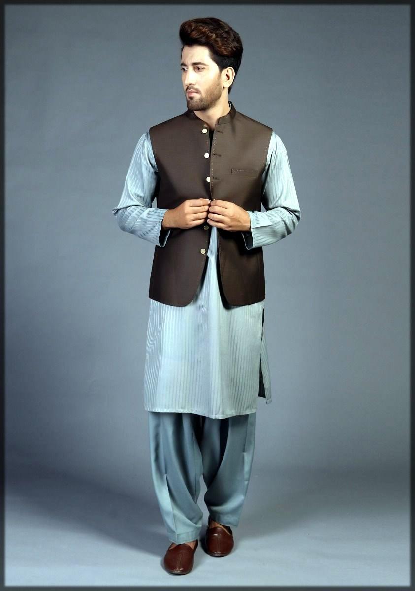 Brown waistcoat for men