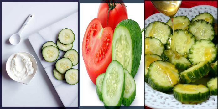 Cucumber And Tomato Face Packs
