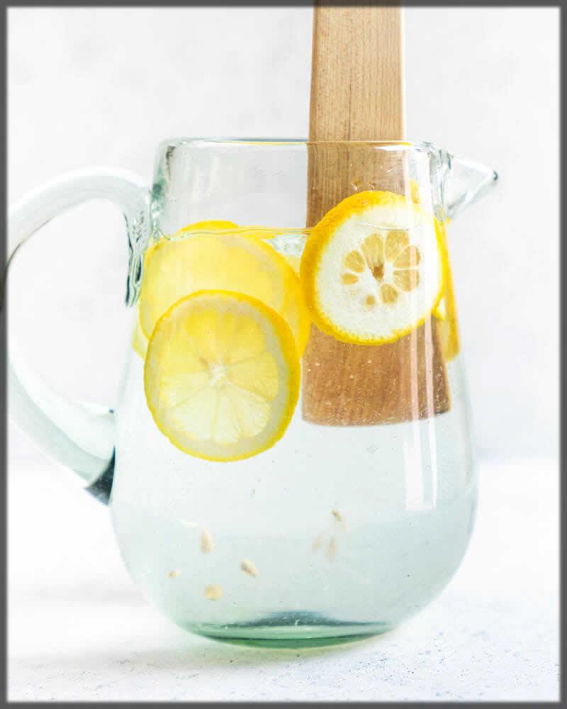 Daily skin care tip of lemon water