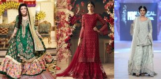 Bridal Sharara Dresses 2021 with Latest Designs for All Wedding Events