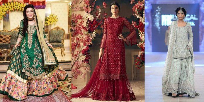 Bridal sharara dresses for girls