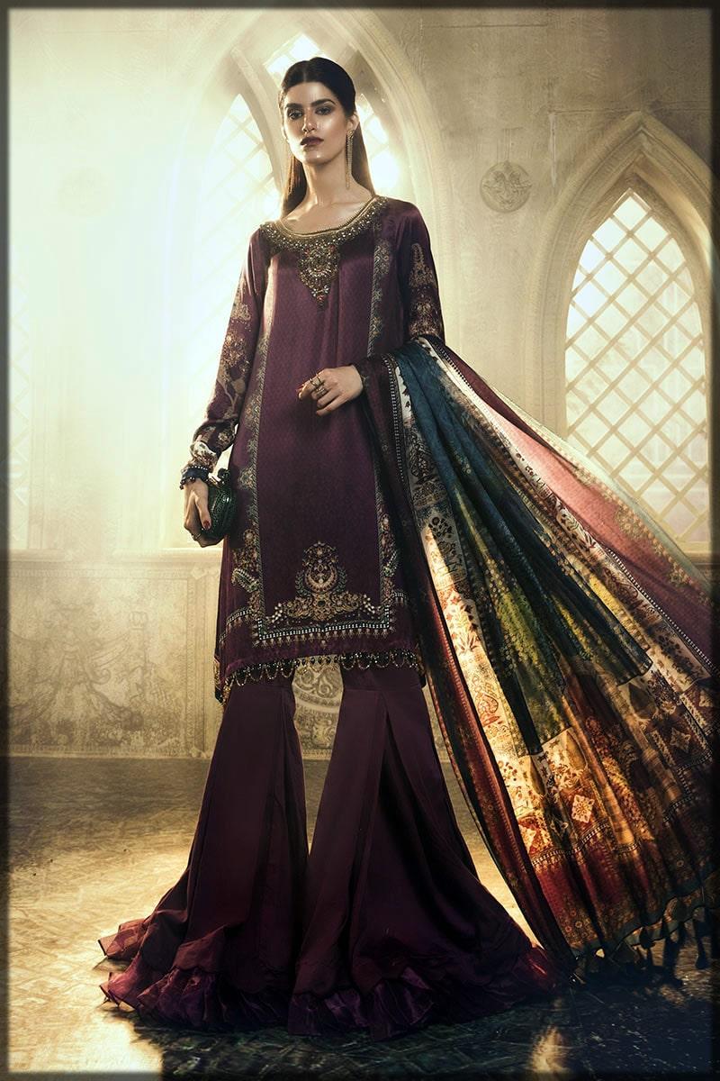 Formal silk dress by Maria B