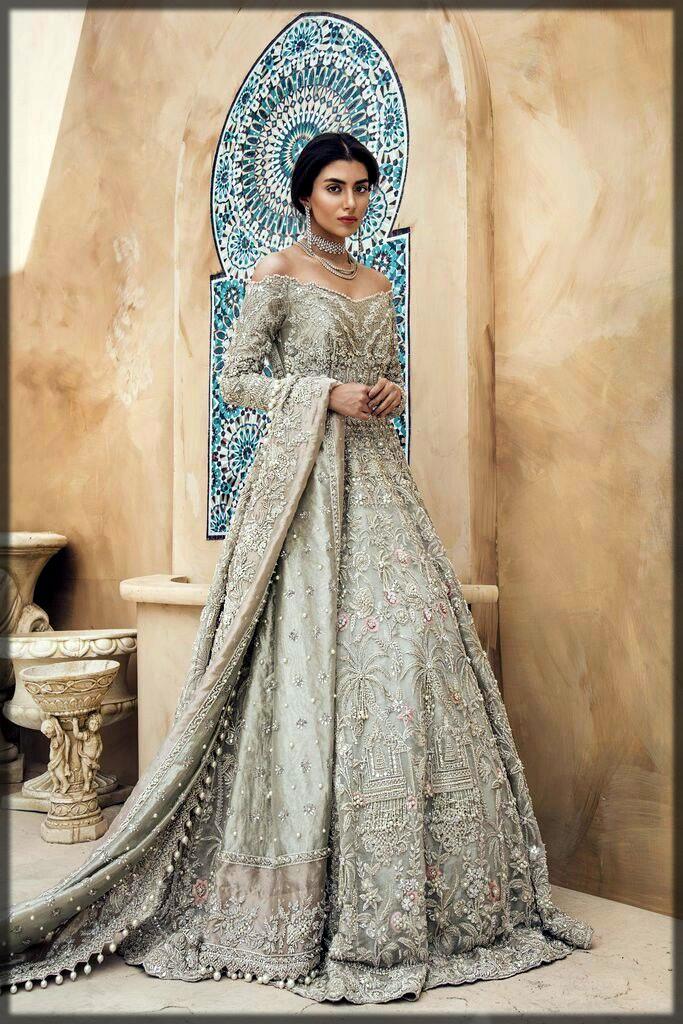 Frock style bridal wear