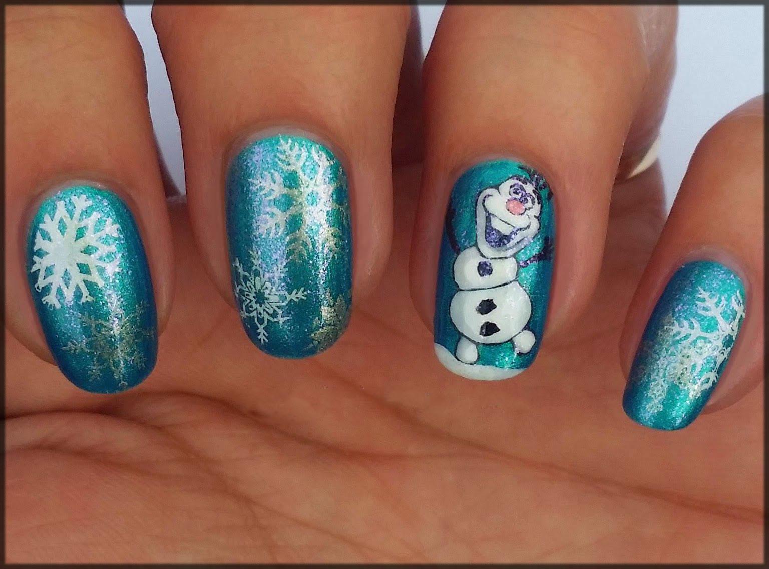 Frozen nail art ideas