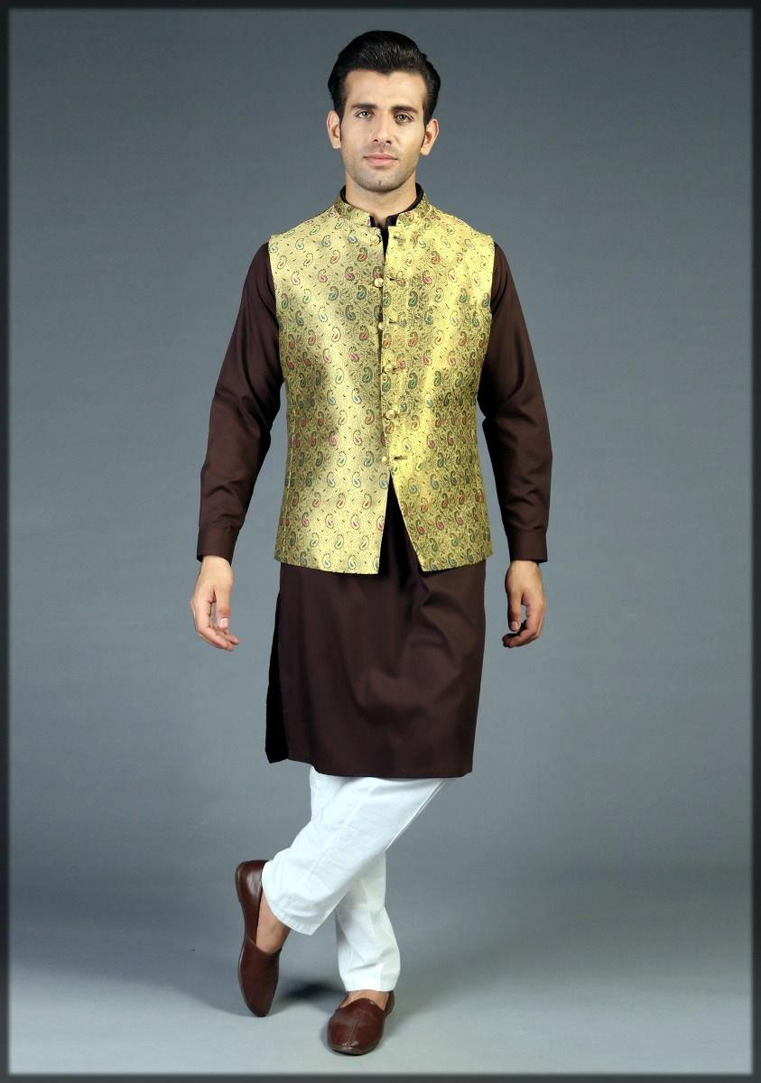 Golden fancy waistcoat