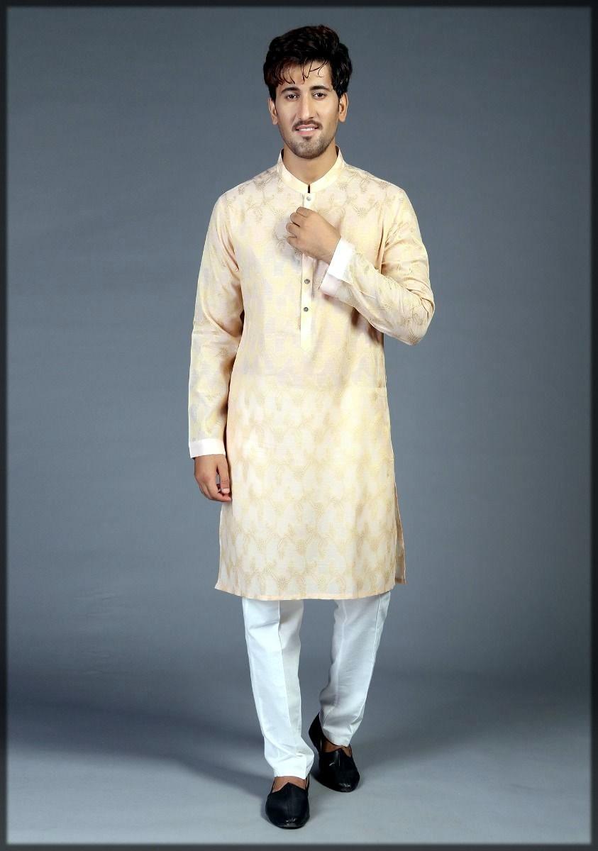 Amir adnan kurta collection in golden