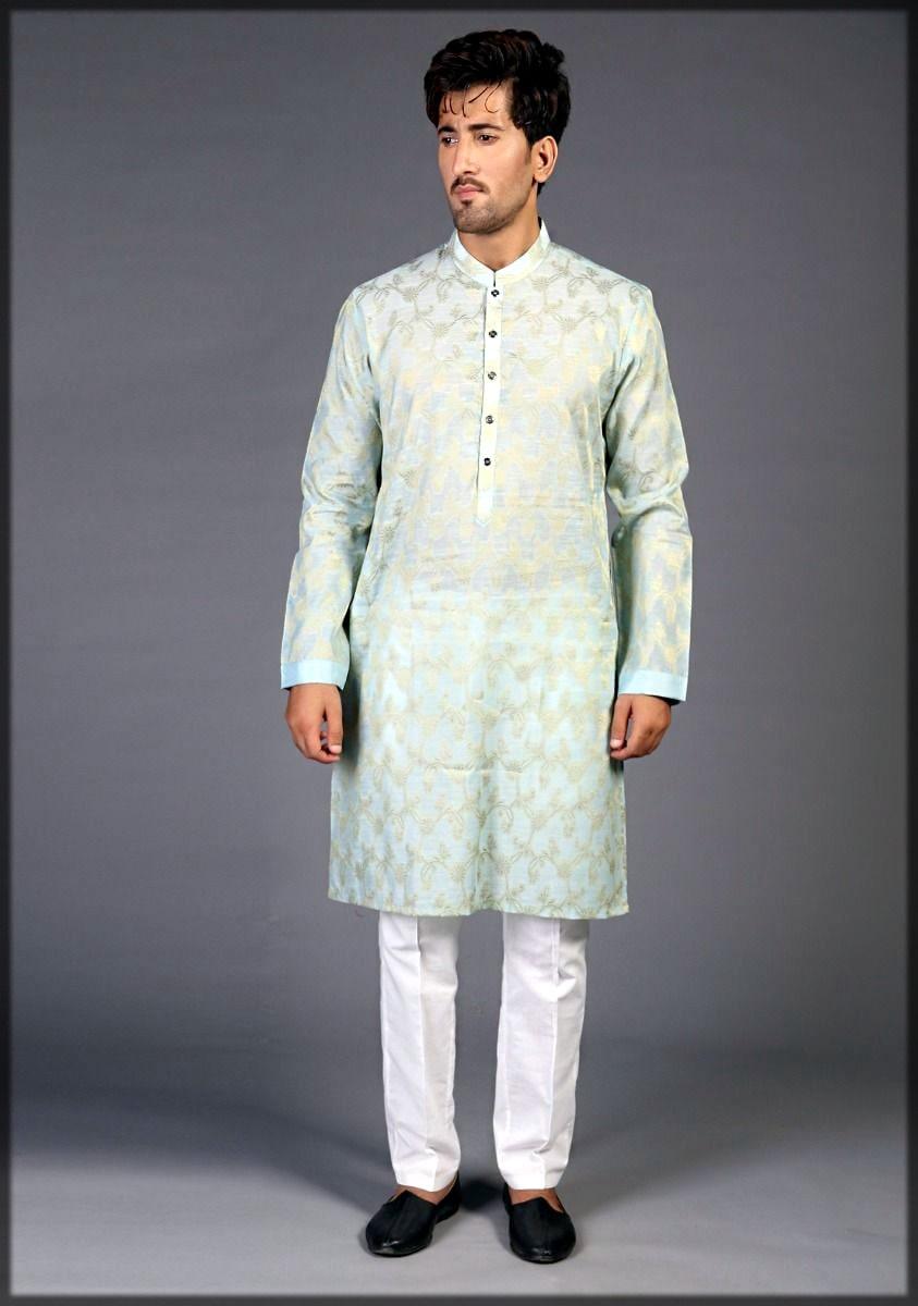Amir adnan kurta collection in green