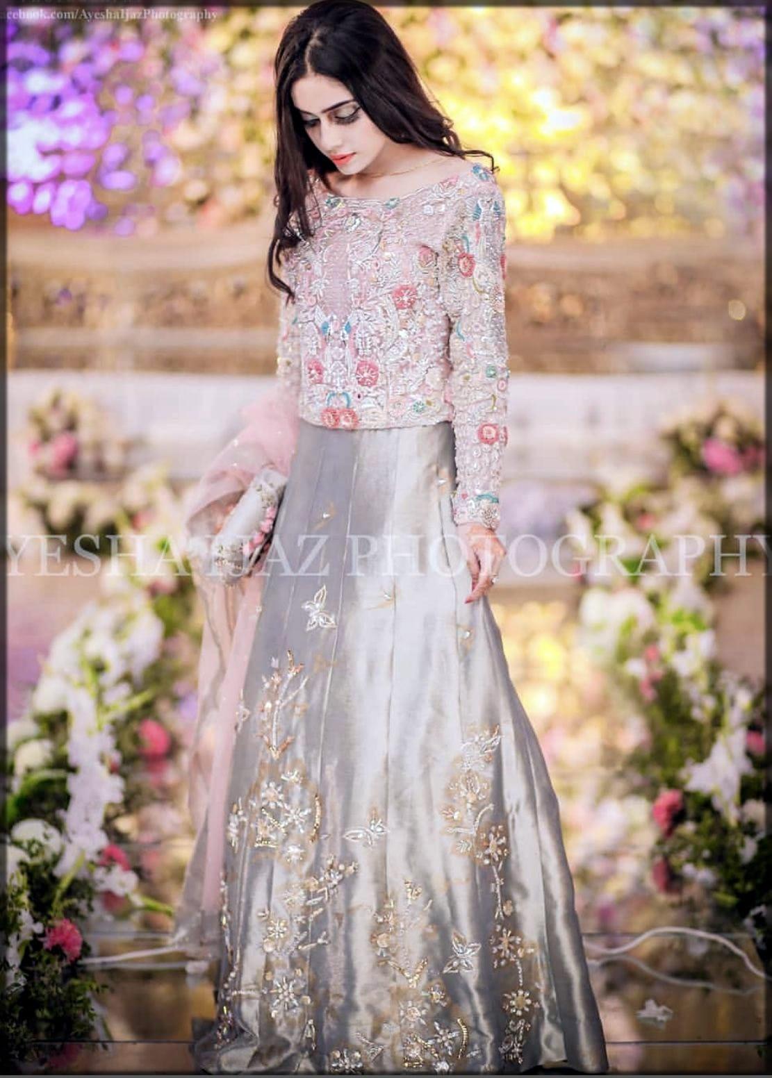 Grey bridal wear