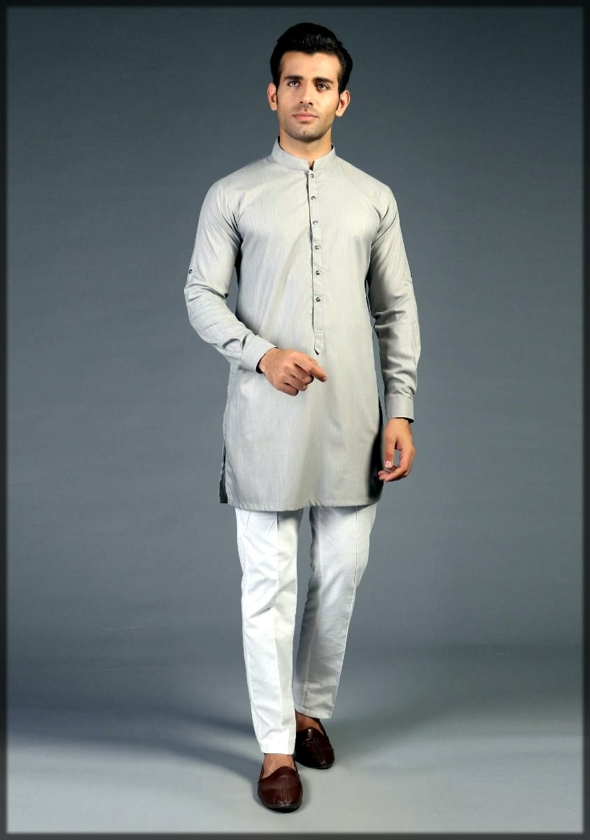 Amir adnan kurta collection in grey