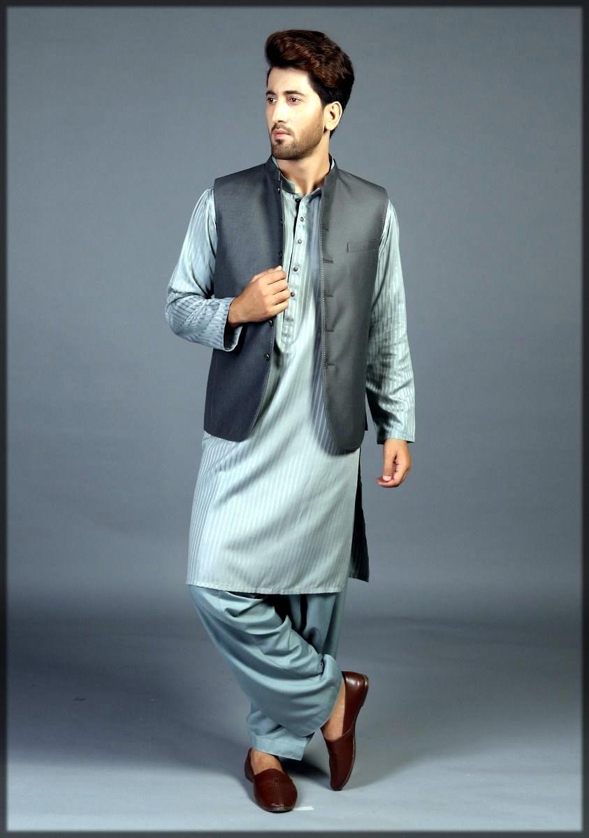 Grey waistcoat for men