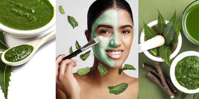 HOMEMADE NEEM FACE PACKS FOR PIMPLES AND ACNE