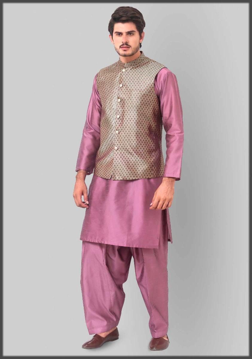 Jamawar fancy wasitcoat by amir adnan