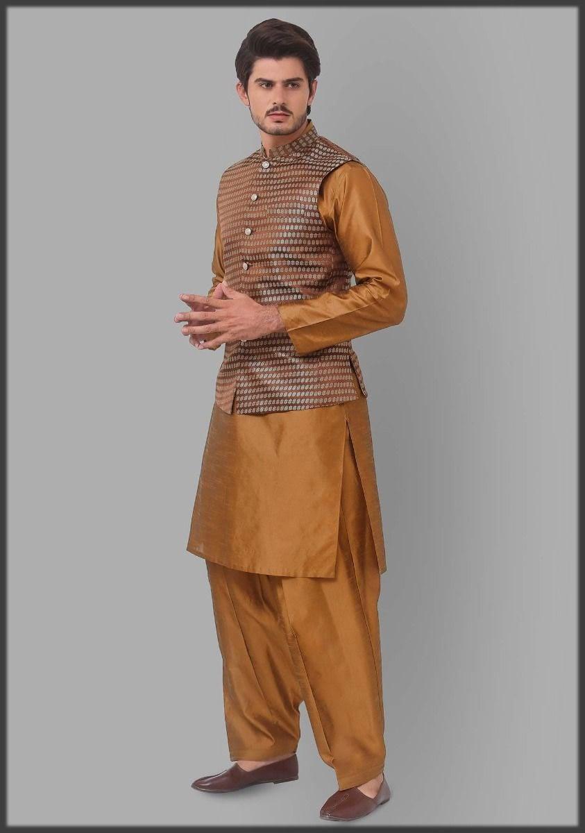 Jamawar waistcoat for men