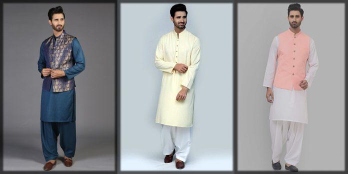 Kurtas and waiscoat combination by Amir Adnan
