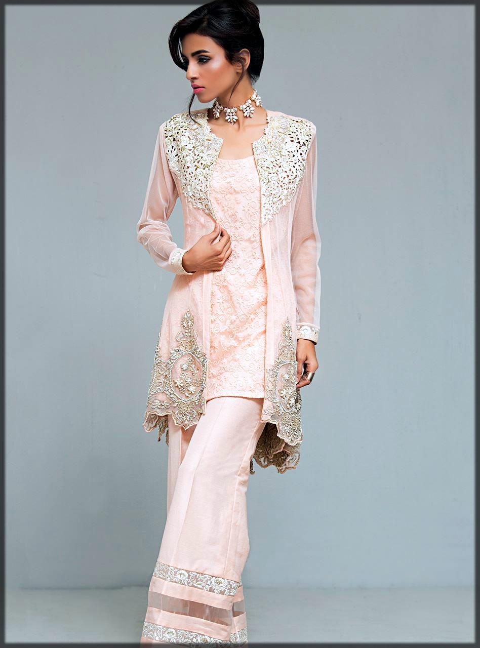Light pink front open double shirt