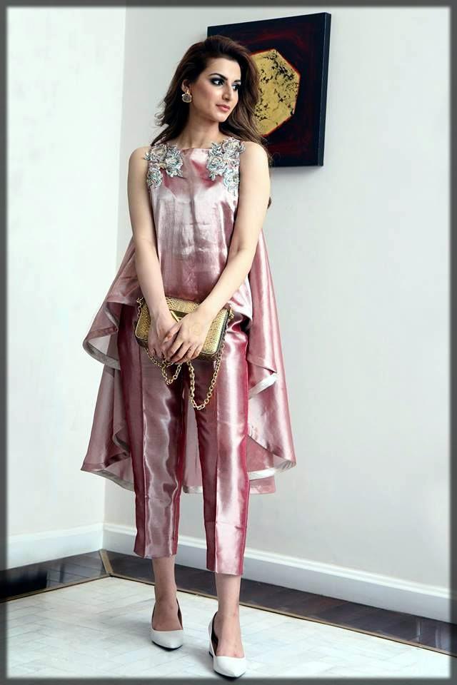 Light pink pakistani silk dress