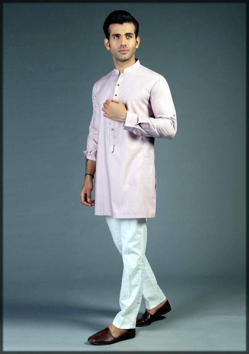 Amir adnan kurta collection in light pink