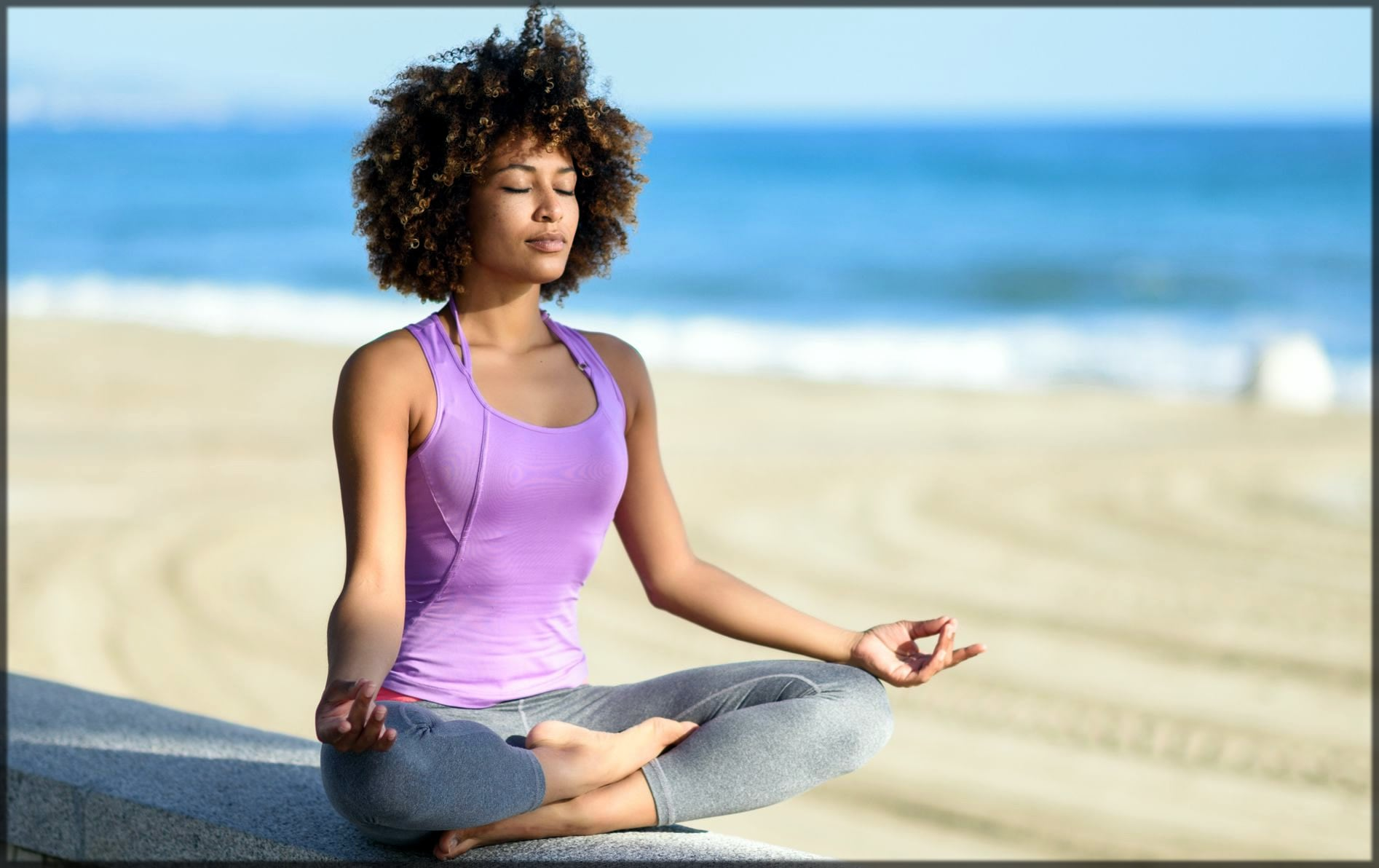 Meditation reduces stress and eye bags