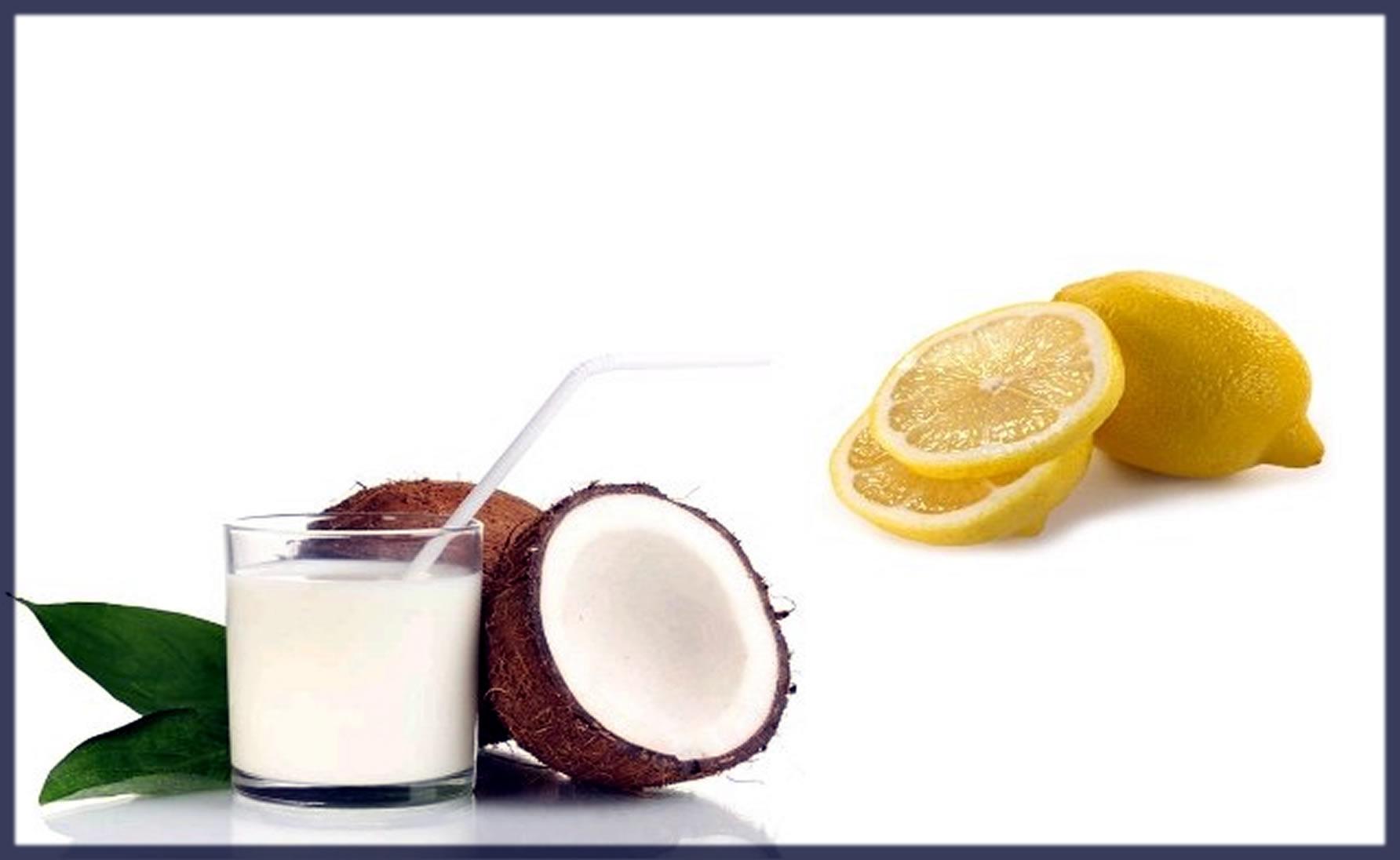 Milk, Lemon Juice And Coconut