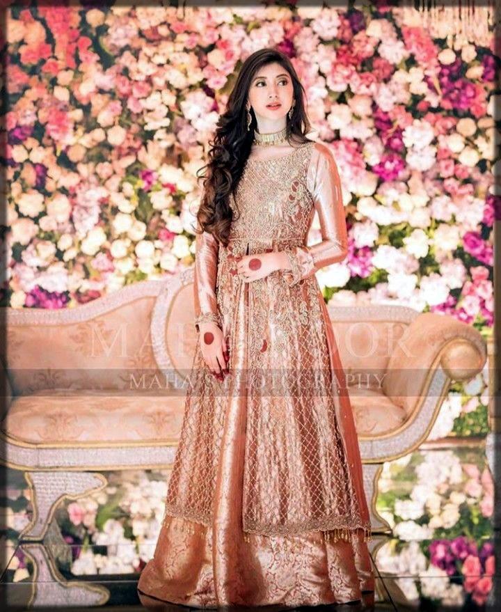 Orange silk dress for brides