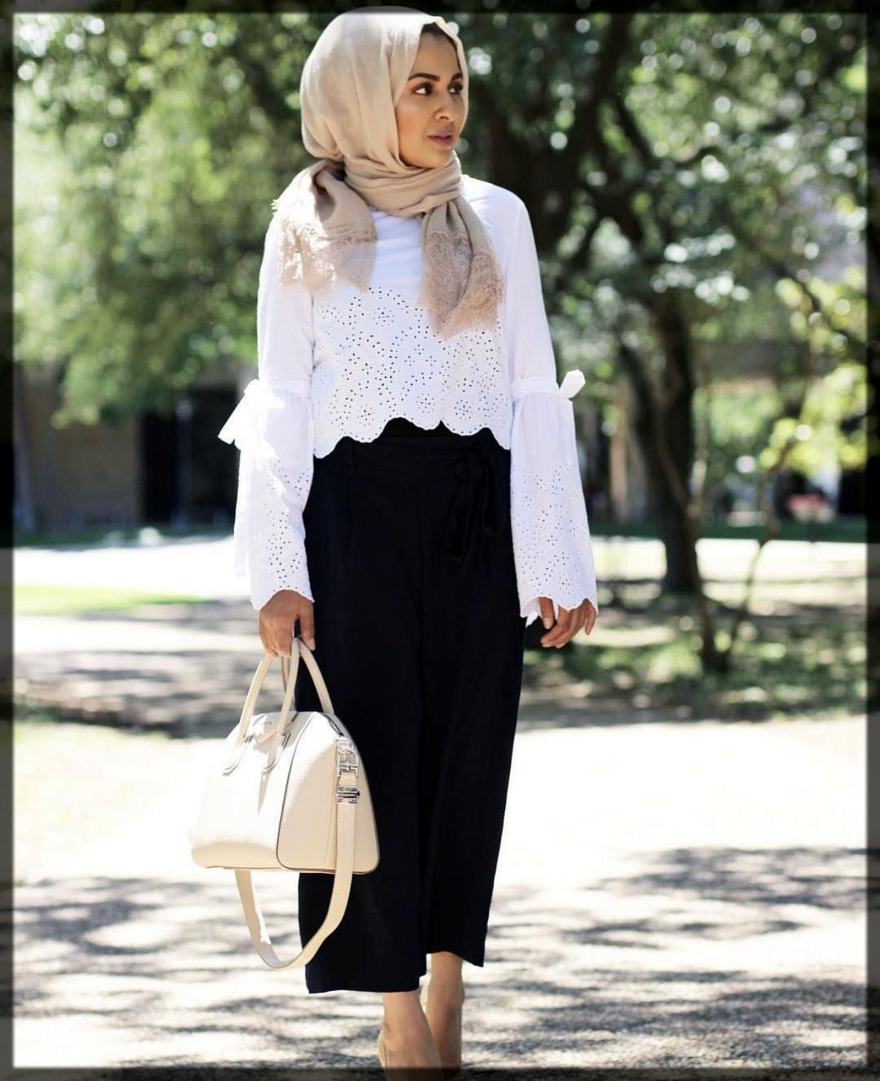 Palazzo Pants And Short Shirt With Hijab