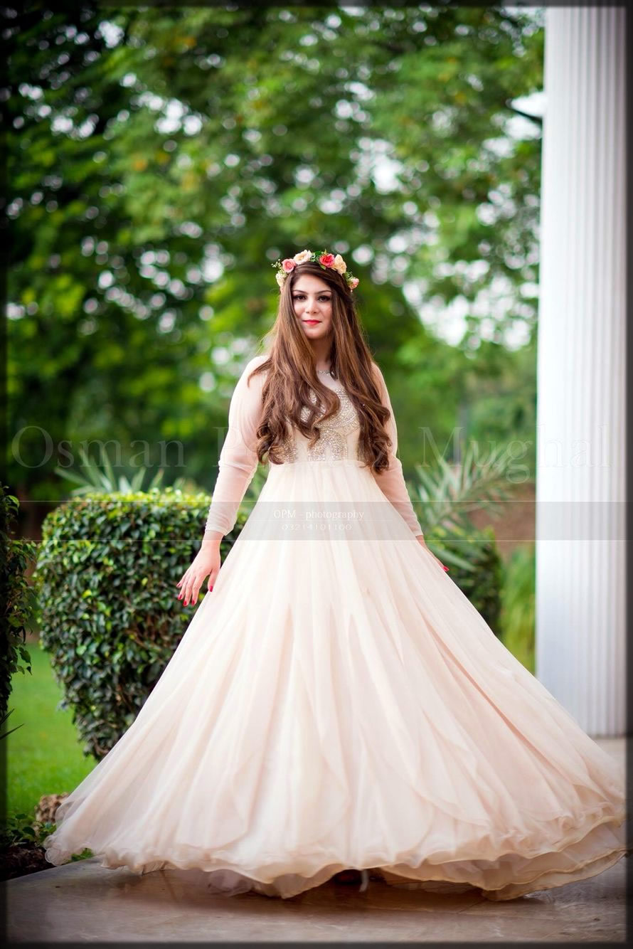 Pakistani wedding frock collection for bridal shower