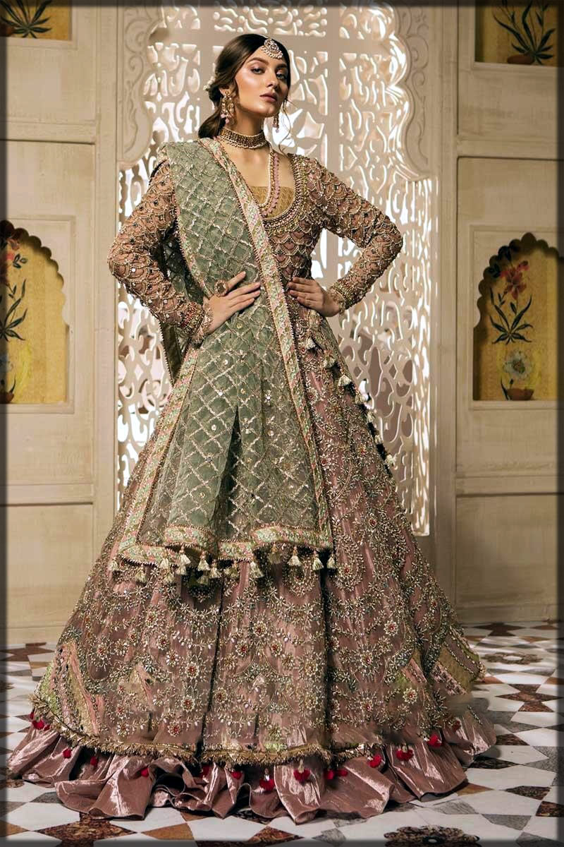 Pink Pakistani wedding frocks