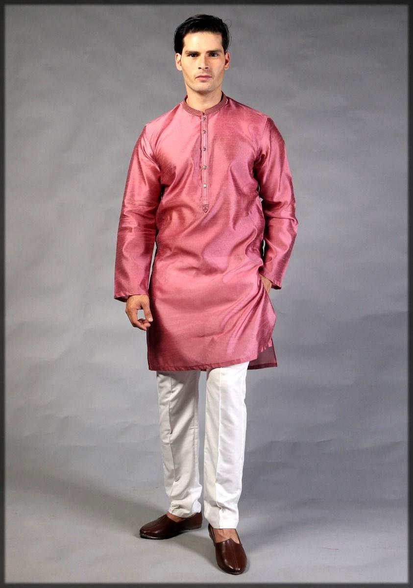 Amir adnan kurta collection in pink