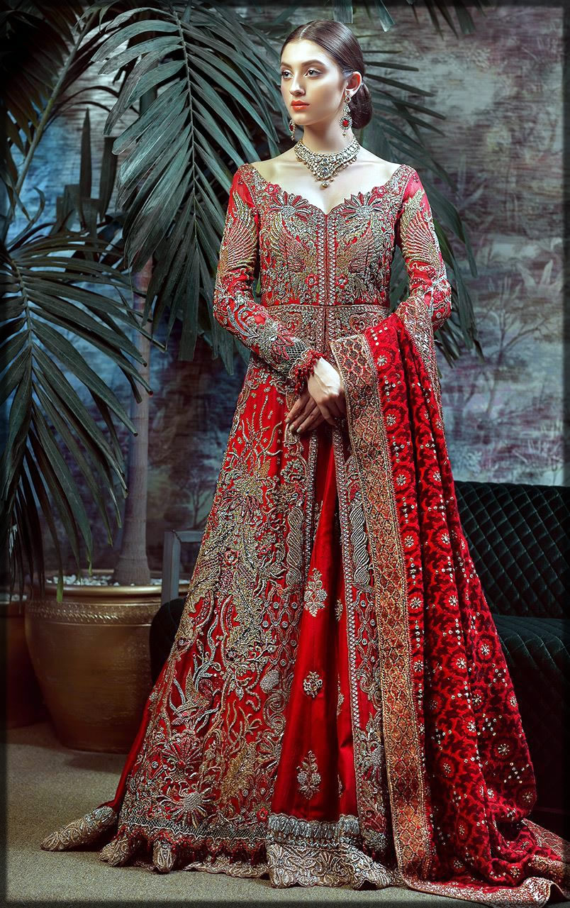 Red frock for barat