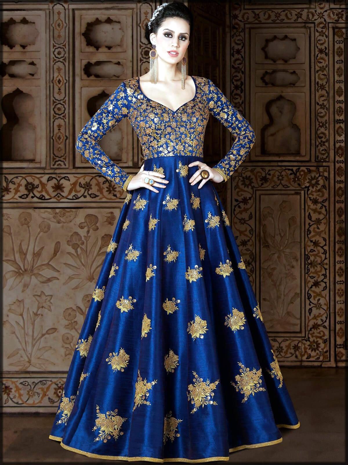 Royal bluie silk dress