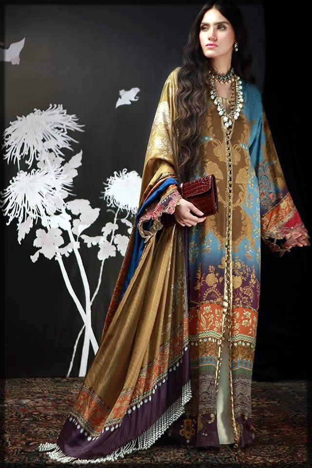 Pakistani silk dress by sana safina