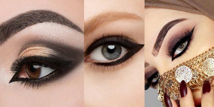 Stylish Arabic Eye Makeup For Girls