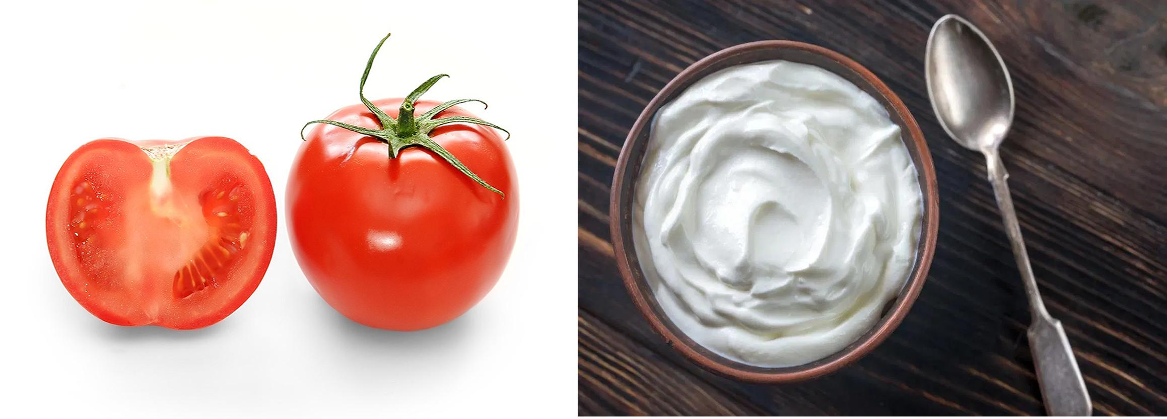 Tomato With Yogurt And Lemon Face Pack