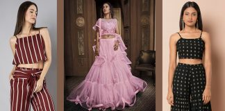 Stylish Crop Top Dresses and Skirts 2021 | Half Blouse Lehenga Outfits