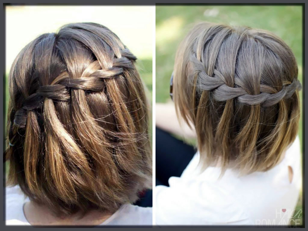 Waterfall Winter Hairstyles in short hairs