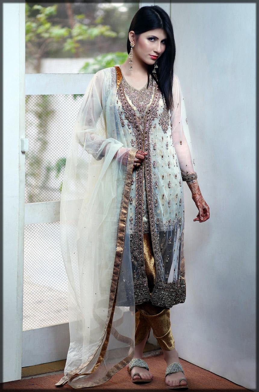 White golden formal wear