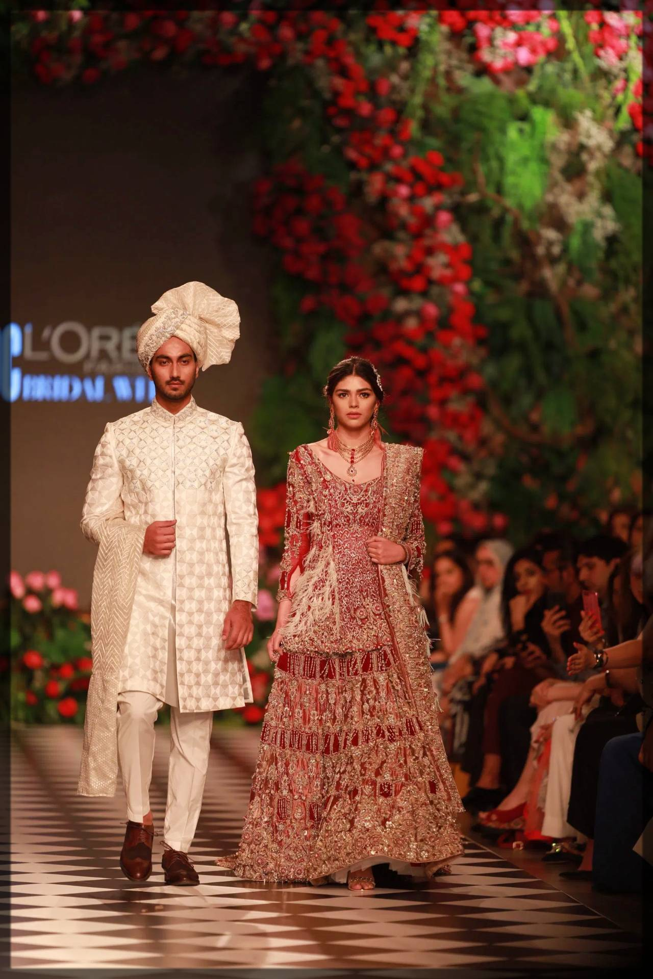 ahmad sultan bridal collection in red
