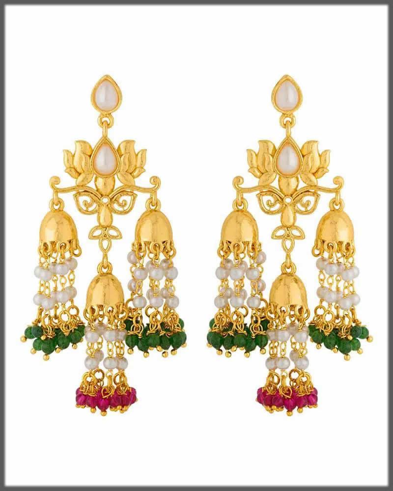 alluring lotus earrings