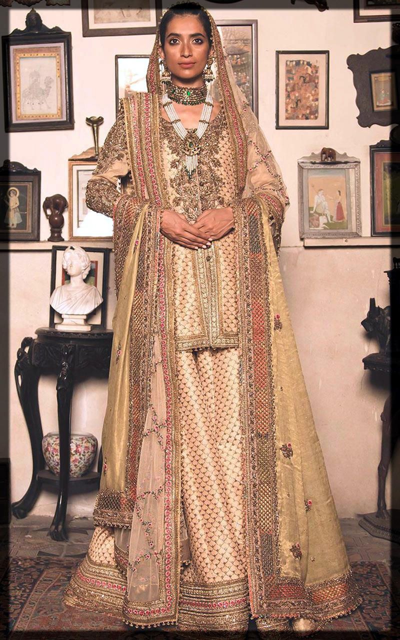 appealing bridal outfit by fahad