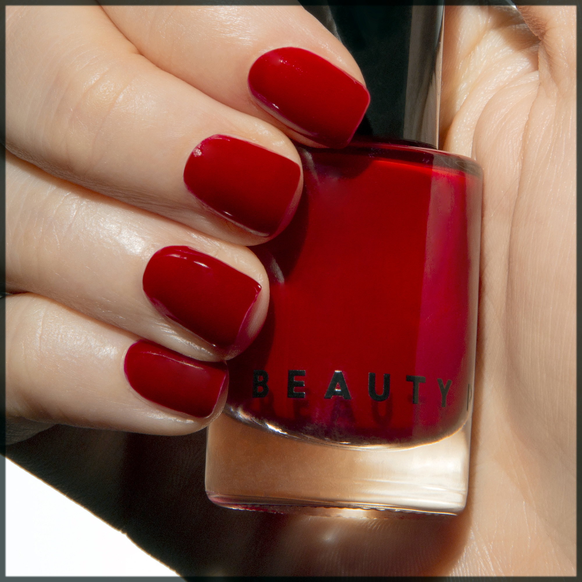 appealing red winter nail art
