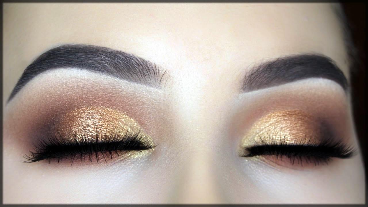 beautiful bronze smokey eye make up